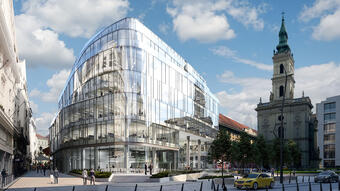Szervita Square Building. Pre-leased by SPACES, Financed by UniCredit Bank Hungary