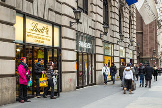 This spring Lindt opens its new retail store in Budapest